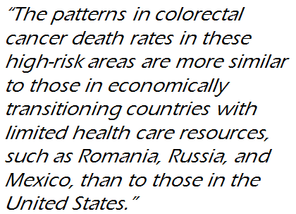 Colon Cancer Hotspots More Similar To Romania And Russia Than To Rest Of The U S Acs Pressroom Blog